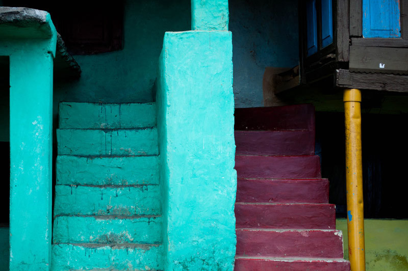 coloured stairs