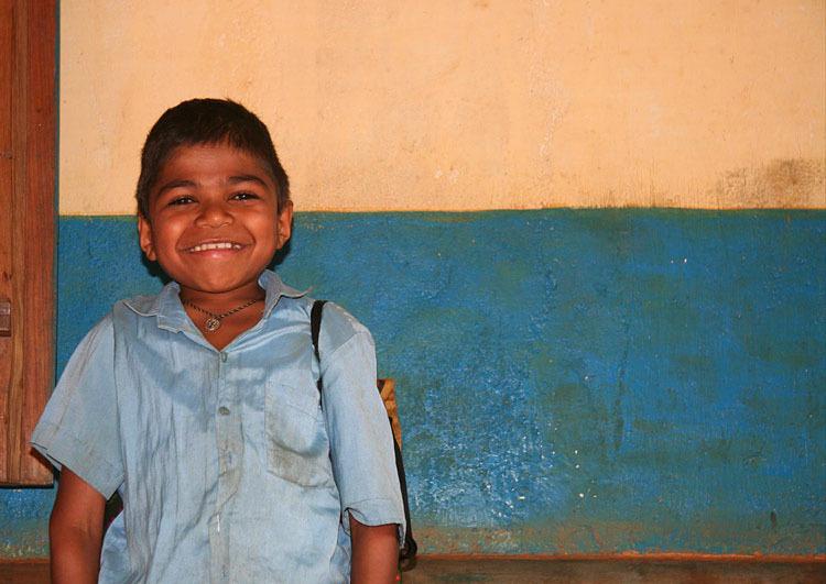 heureux écolier / happy pupil