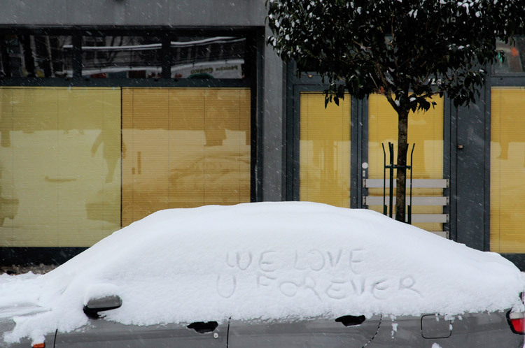 Paris snow love
