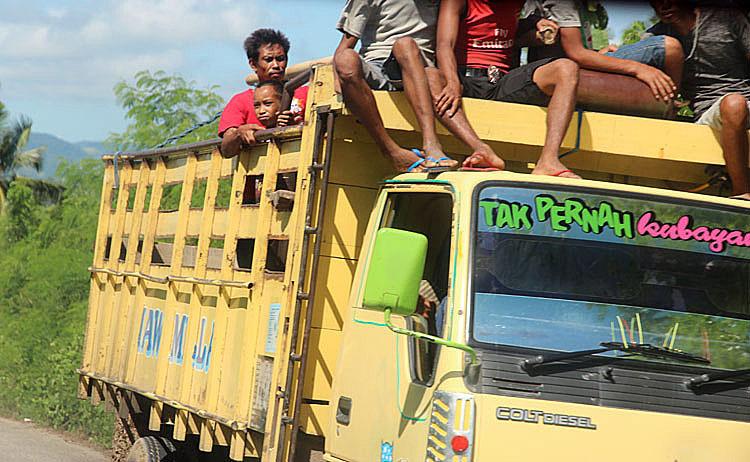 Indonesia Sumba public transport
