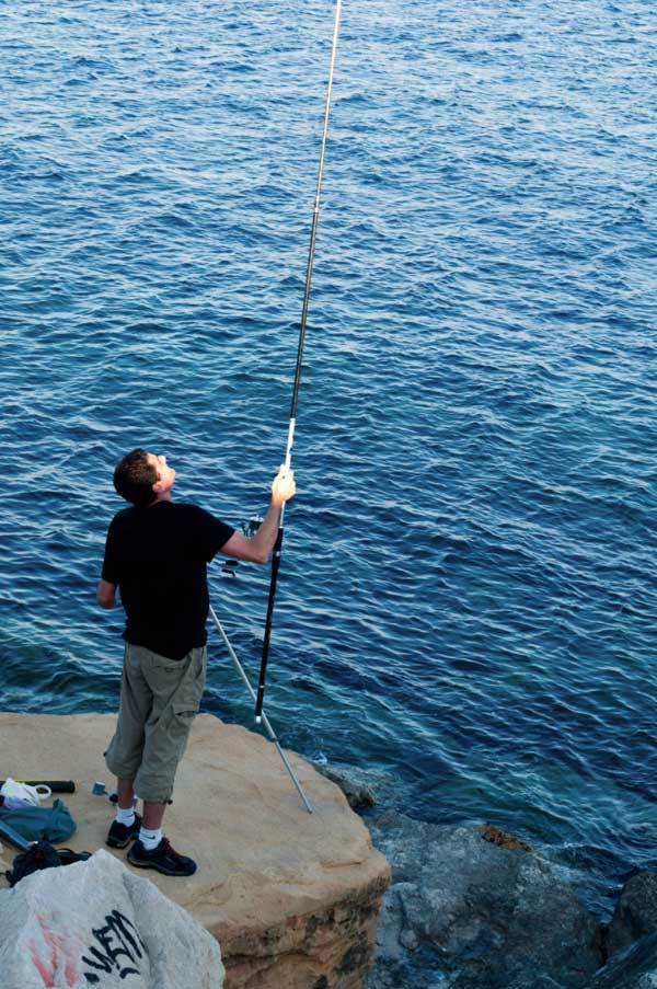 Pêcheur éclairé / Spotlight on the fisherman