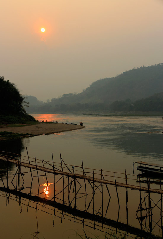 Mekong at sunset