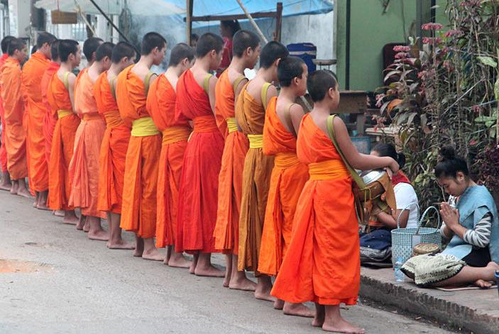 sunrise monks and the faithfull