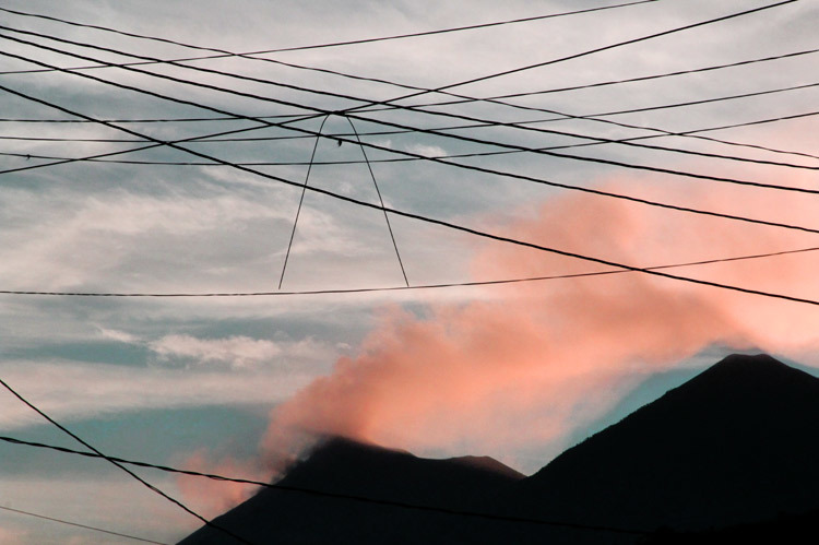 volcan  et lignes
