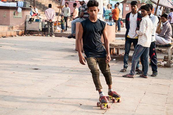 En roller sur les ghats / Roller on the ghats