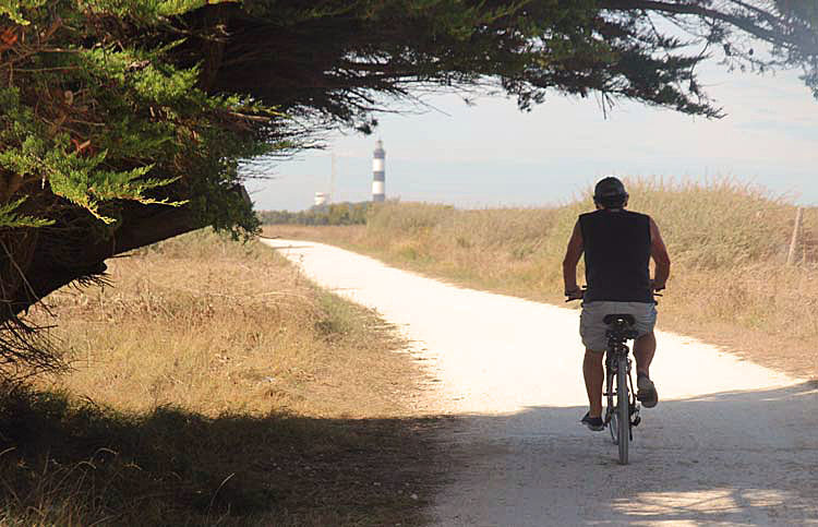 à bicyclette ...