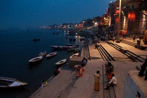 Un soir sur les ghats / An evening on the ghats
