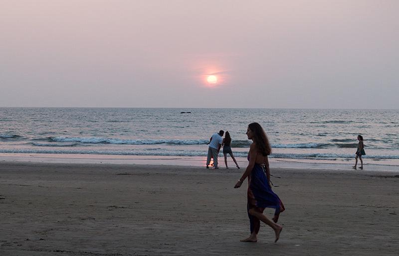 Un soir à la plage: coucher de soleil