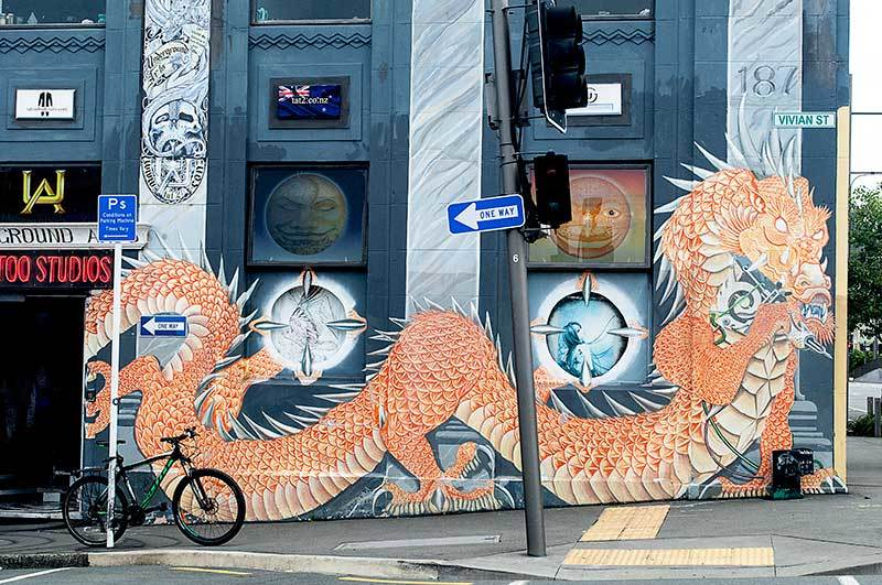 Street art   Dragon 1