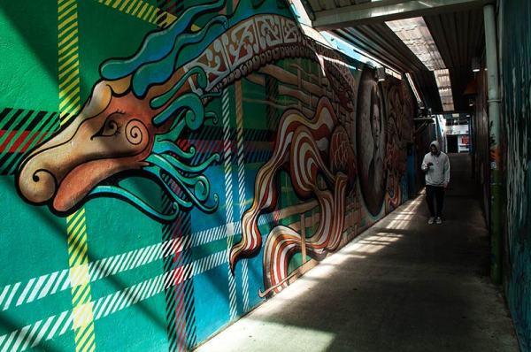 Street art   Dragon 2
