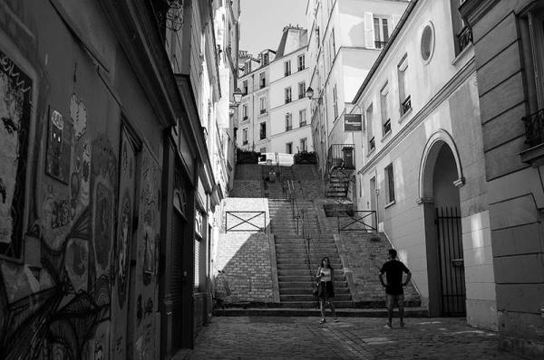 Les escaliers de la butte.... Flight of steps
