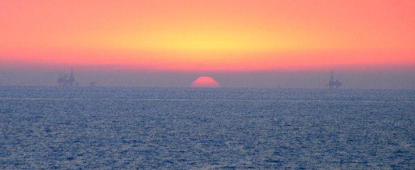 غروب در خلیج فارس