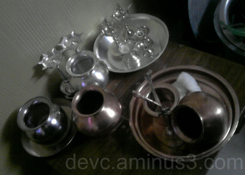 Preparation of Satyanarayan mahapooja