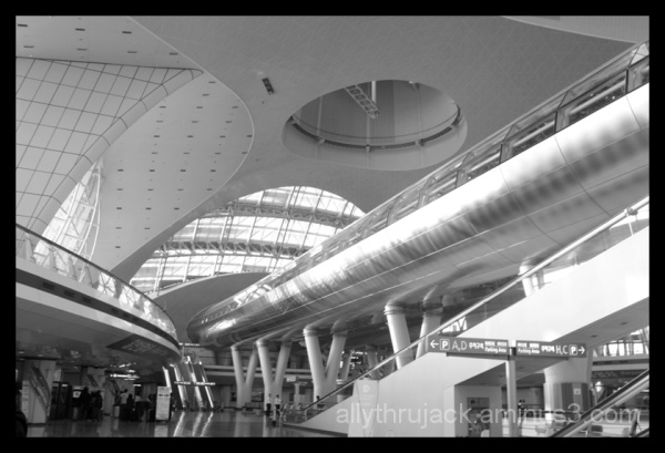 arrival hall of incheon airport, korea