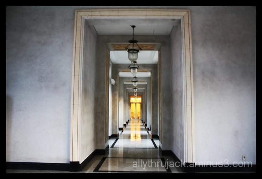 corridor, lotte hotel, jeju island, korea