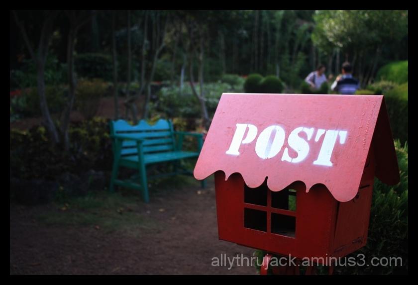 postbox, kimnyeong maze park, garden, jeju island,