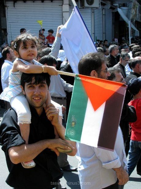 Iranians pro Palestine rally on al-Quds day