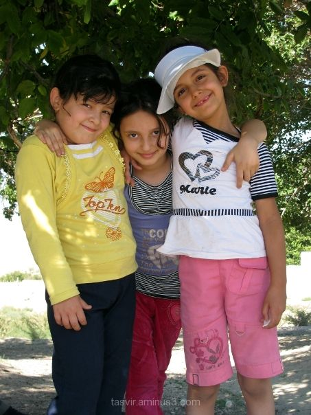 three Iranian girls