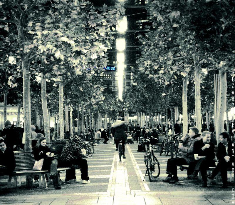 a view of frankfurt streets