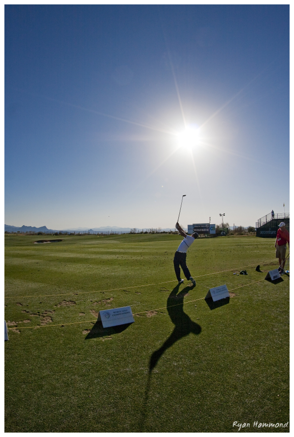 Golf swing at a golf tournament in Marana, Arizona
