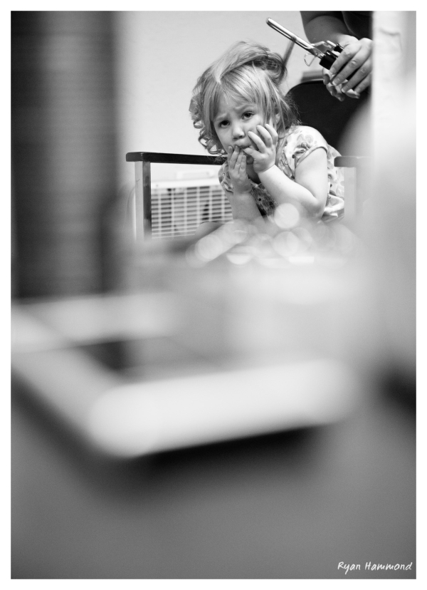 Flower girl reluctantly gets ready