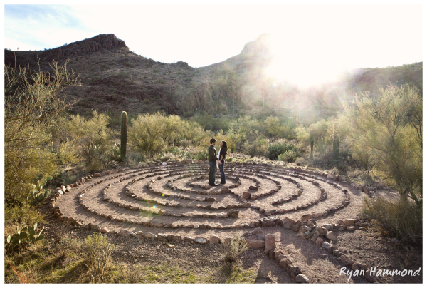 Engagement photo in Tucson, Arizona