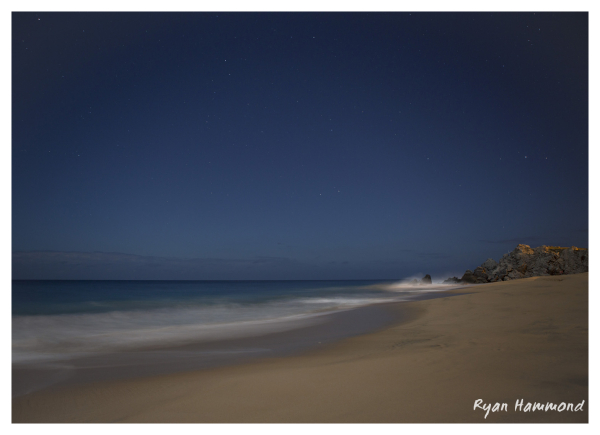 Moonlit beach in Cabo San Lucas