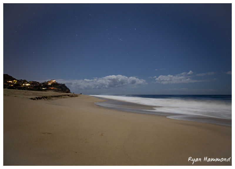 Moonlit Cabo San Lucas beach