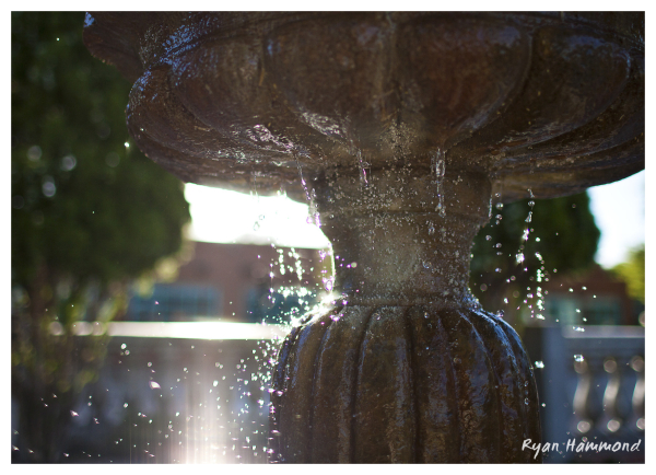 fountain, water, split second
