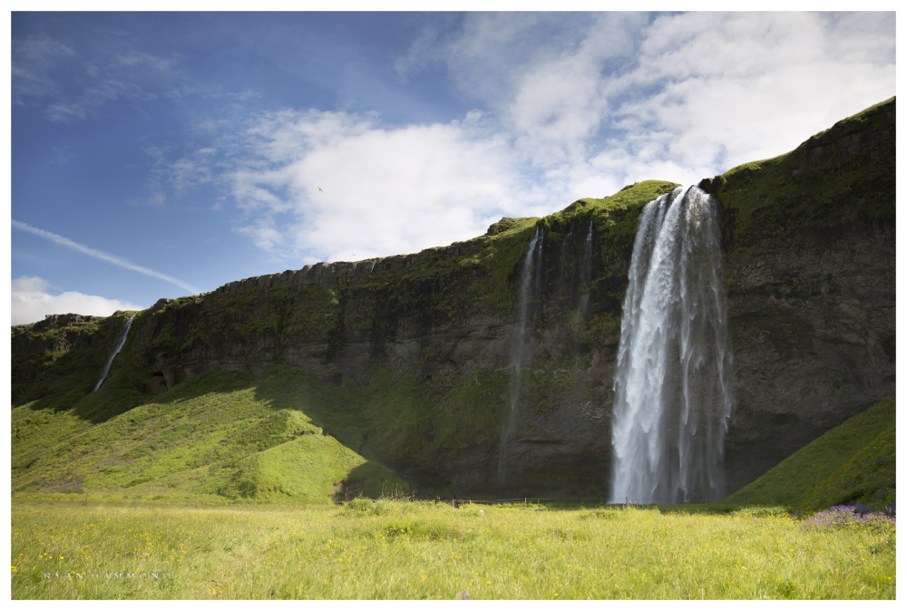 Iceland, waterfall, Ryan Hammond, Photographer