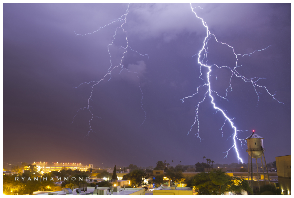 lightning, Tucson, Arizona, ryan hammond, monsoon