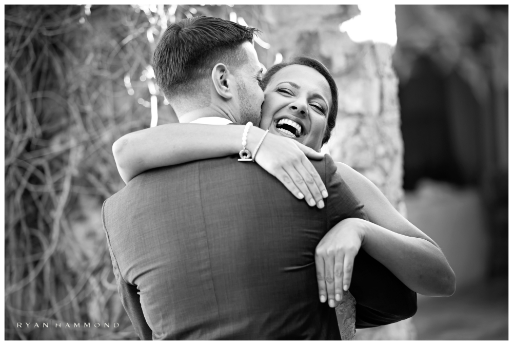 wedding, bride, elation, smile, embrace