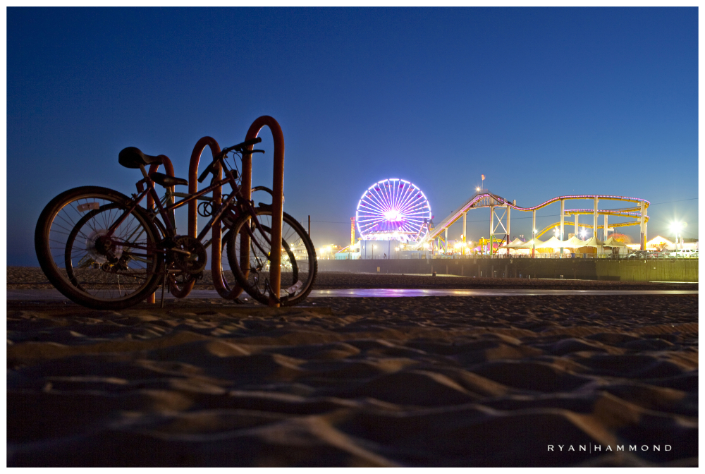 Santa Monica Pier dusk amusement park ryan hammond