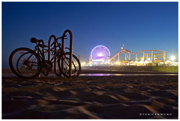 Santa Monica Pier dusk amusement park ryan hammond