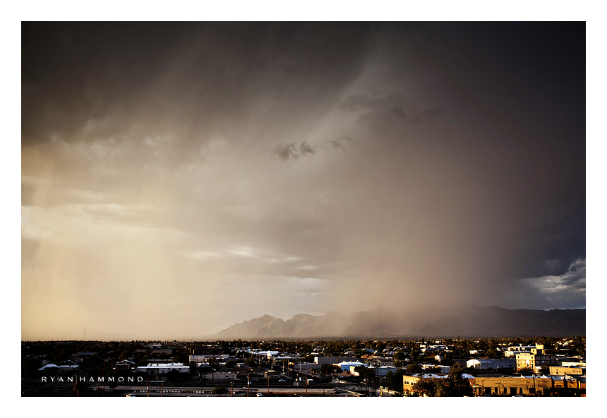 Tucson, storm, rain, mountains, ryan hammond photo