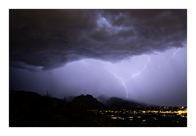 lightning monsoon storm tucson weather photography