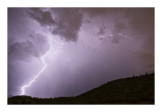 lightning, storm, monsoon, weather, Arizona