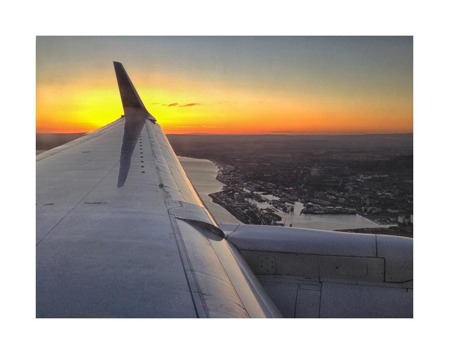 Arriving on a jet plane. . .