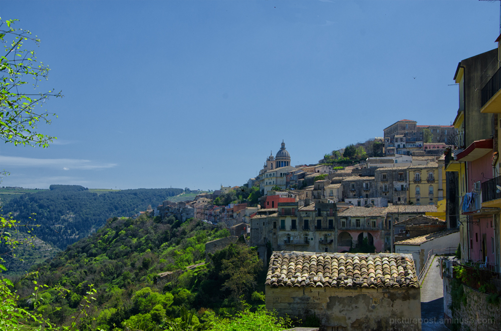 Cathedral of San Giorgio in Ragusa Ibla from afar