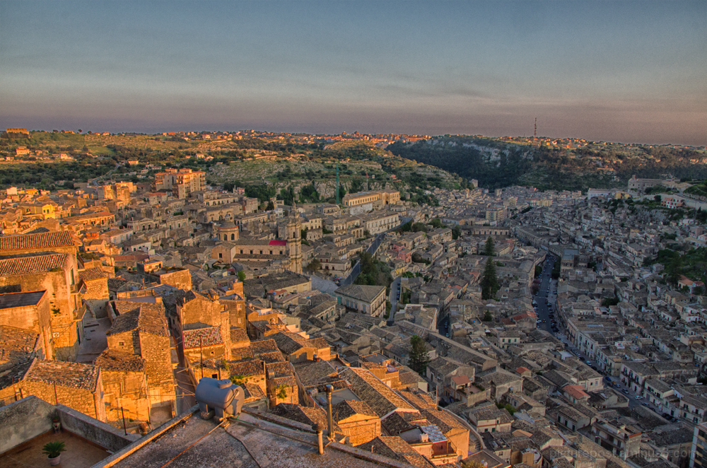 Modica Bassa from Modica Alta