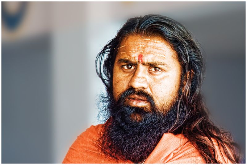 Portrait of a Indian Holy Man
