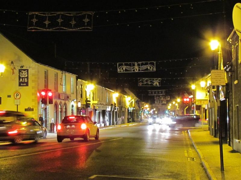 Leixlip Main Street in the evening