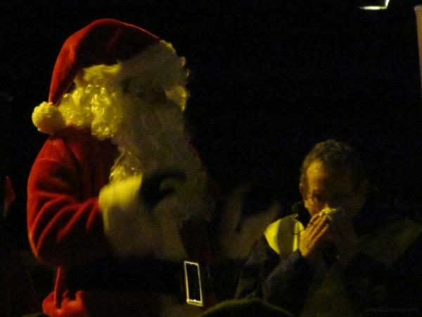 Santa and Sneezy