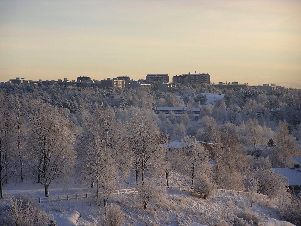 Winter in the city of Turku in 2006