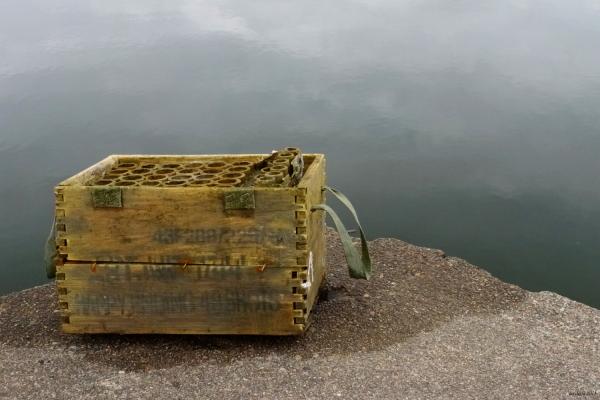 A box on a pier