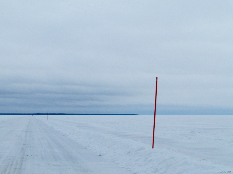 On an ice road