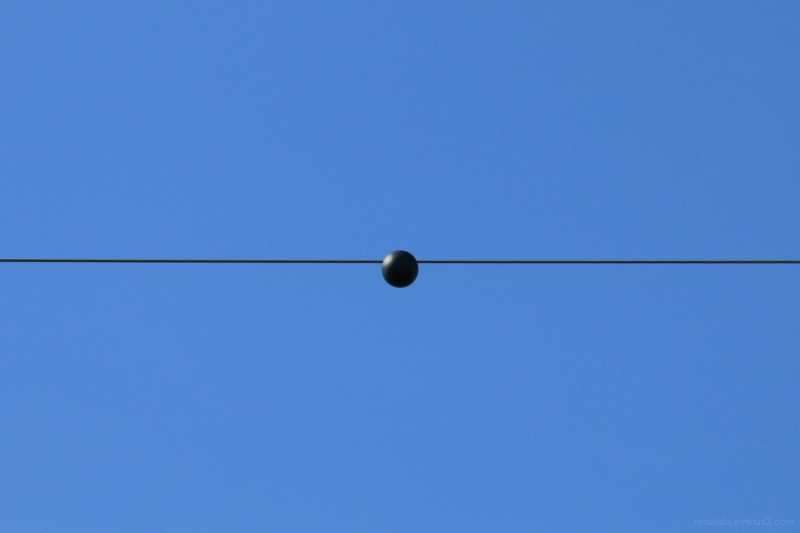 Ball on a wire