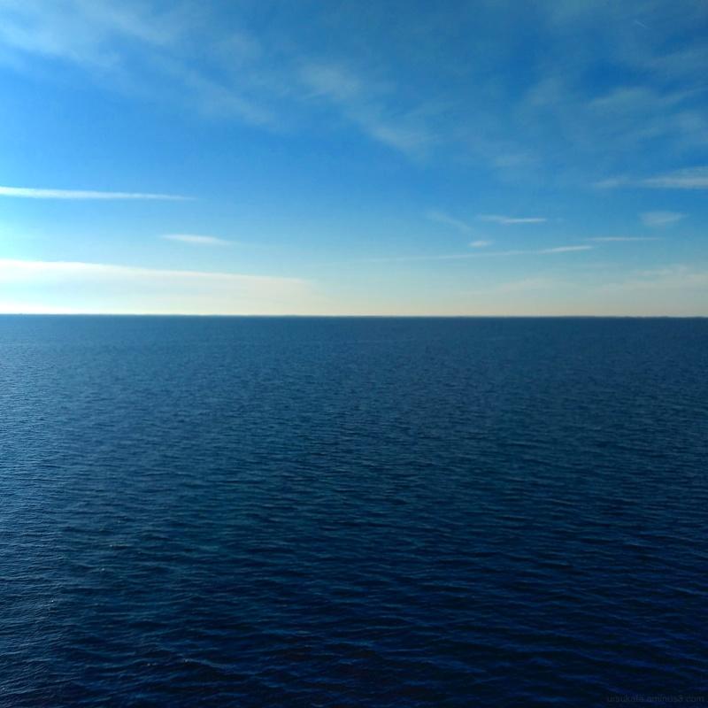 Blue sky sea