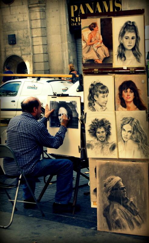 Painter in La Rambla