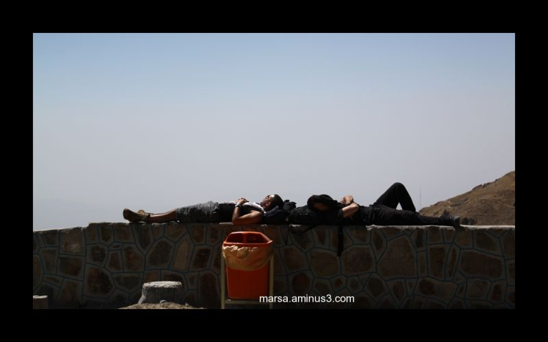 mountain tochal tehran boys sleep sunbathing